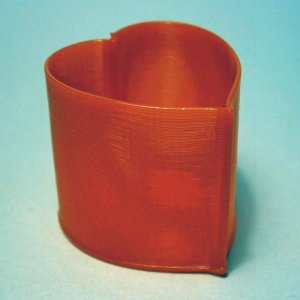 3Dデザイン 小物入れ おしゃれな 小型ハート形ケース カップ 入れ物 (螺旋3D印刷品) dasyn