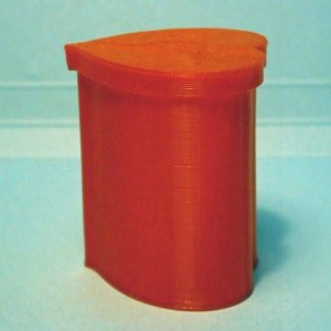 3Dデザイン 小物入れ おしゃれな 小型ハート形ケース カップ 入れ物 (蓋つき,螺旋3D印刷品) dasyn