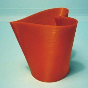 3Dデザイン スイングらせん印刷 レディ・メード ハート形カップ タイプ 01a (小形・赤) dasyn