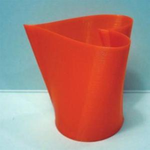 3Dデザイン小物入れ 3D らせん印刷 レディ・メード ハート形カップ タイプ 01a (中形・赤) dasyn