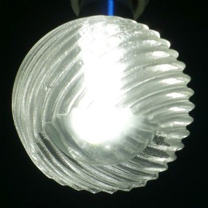 3Dデザイン ランプシェード 3D 印刷 LED 器具用小形シェード 交換用 (変形球形, タイプ 25)|dasyn