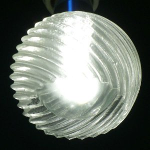 3Dデザイン ランプシェード 3D 印刷 LED 器具用小形シェード 交換用 (変形球形, 直径 8 cm, タイプ 26)|dasyn