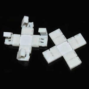 幅 8 mm 単色 テープライト・コネクタ (十字形, DC 12 V 照明器具部品) dasyn