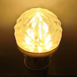 LED電球 おしゃれ 3D デザイン電球 (さざなみ模様つき,直径 6 cm 3 W 電球色 口金 E26 LED 照明,白熱灯 20 W 相当 店舗・イベントにも)|dasyn
