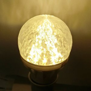 LED電球 おしゃれ 3D デザイン電球 (ランダムな波模様つき,直径 6 cm 3 W 電球色 口金 E26 LED 照明,白熱灯 20 W 相当)|dasyn