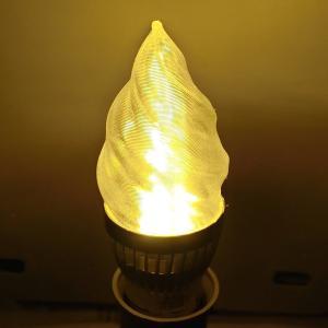 3Dデザイン電球 シャンデリア球 クールな細いソフトクリーム形 アイスクリーム型 おしゃれにきらめく LED 電球 (白熱灯20W相当,3W電球色/昼白色 口金E26) dasyn