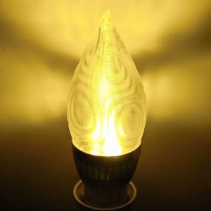 3Dデザイン電球 シャンデリア球 粗い同心円状のモアレ縞模様の LED 電球 シャンデリア球 (白熱灯20W相当,直径4cm 3W電球色 口金E26 店舗・イベントにも)|dasyn