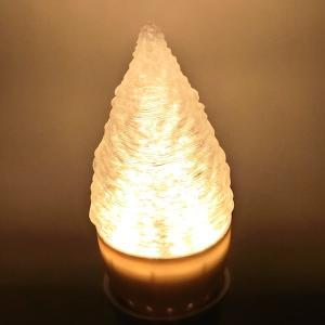 3Dデザイン電球 シャンデリア球 短い氷柱形 クールでおしゃれにきらめく つらら型 LED 電球 (白熱灯20W相当,3W電球色 口金E26 アイスクル形 店舗にも)|dasyn