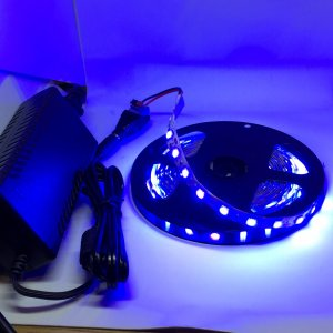 LEDテープライト 単密度 5050 高輝度 青色 12 V (5 cm 0.7 W 単位 切り売り...