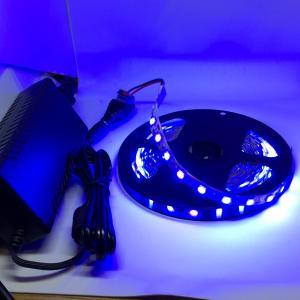 100 V 電源アダプタつき 5050 青色 12 V LED テープライト (5 cm 0.7 W 単位,非防水,照明器具)