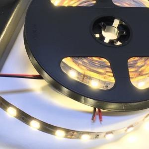 LEDテープライト 単密度 5050 高輝度 電球色 12 V (5 cm 0.7 W 単位 切り売り,非防水)