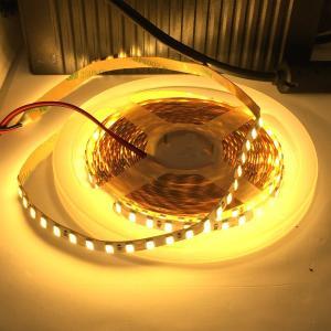 LEDテープライト 100 V 電源アダプタ付き 8 mm 幅 倍密度 5630 超高輝度電球色 12 V (高密度 2.5 cm 1 W 単位 切り売り,非防水,照明器具)