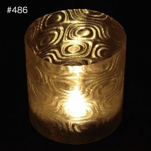 LEDキャンドルホルダー 3Dデザインランプ用 おしゃれで不思議なモアレ縞模様のティーライト テーブルランプ 3D印刷ポット単体 ボタン電池型インテリア照明器具|dasyn