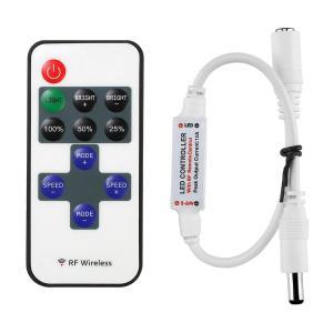 リモコン 調光器  単色 LED 照明器具 on/off と明るさ調整のための電波式 11 キー・リモコン (直流 DC 12 V テープライト用調光スイッチ) dasyn