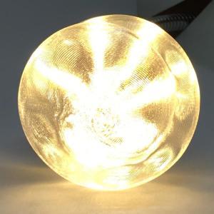 LED電球 おしゃれ 3D デザイン電球 (大波模様つき,直径 5 cm 2 W 電球色 口金 E26 LED 照明,白熱灯15 W 相当 店舗・イベントにも)|dasyn