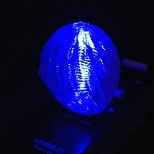 3Dデザインランプ おしゃれな 3D 印刷シェードつき USB ミニライト 青色 (照明器具,デザイン電球) dasyn
