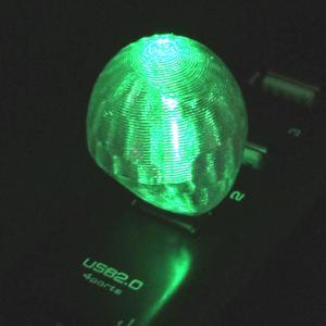 3Dデザインランプ おしゃれな 3D 印刷シェードつき USB ミニライト 緑色 (照明器具,デザイン電球) dasyn