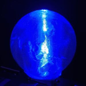 3Dデザインランプ 地球儀型 USB ミニライト 青色 (3D 印刷シェードつき) dasyn