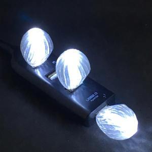 3Dデザインランプ おしゃれな 3D 印刷シェードつき USB ミニライト 白色 (照明器具,デザイン電球) dasyn