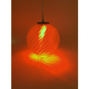 USB 3Dデザインランプ おしゃれな波模様の USB スタンド兼ペンダント・ライト 赤色 直径 6 cm (LED 照明器具)|dasyn