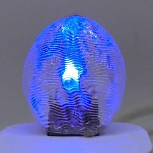 3Dデザインランプ おしゃれな 3D 印刷シェードつき 薄型 USB ミニライト 青色 (照明器具,デザイン電球) dasyn