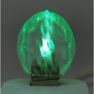 3Dデザインランプ おしゃれな 3D 印刷シェードつき 薄型 USB ミニライト 緑色 (照明器具,デザイン電球) dasyn