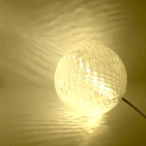 USB 3Dデザインランプ 変化する波模様の USB スタンド兼ペンダント・ライト 電球色 直径 8 cm (LED 照明器具)|dasyn