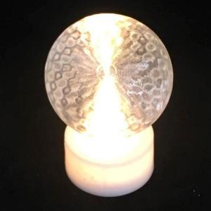 電池式 3Dデザインランプ 電球色のフィボナッチ模様ミニライト (ボタン電池 CR2032 使用)|dasyn