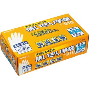 天然ゴム使い切り手袋 No.910 S date-yakkyoku