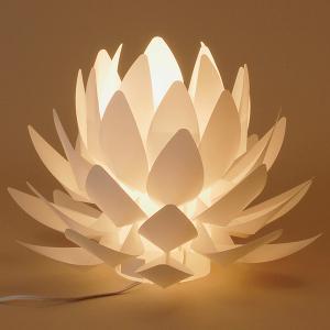 カメヤマローソク 間接照明 盆提灯 Origami-lite 蓮花 M date