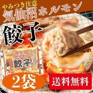 からくわ精肉店 気仙沼ホルモン餃子 2袋セット(1袋8個入×2)  送料無料|date
