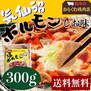 からくわ精肉店 気仙沼ホルモン しお味(塩にんにくタレ) お試し食べきり300g 送料無料|date