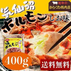 からくわ精肉店 気仙沼ホルモン しお味(塩にんにくタレ) 食べきり満足400g 送料無料|date
