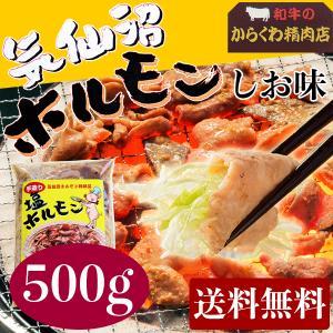 からくわ精肉店 気仙沼ホルモン しお味(塩にんにくタレ) 2〜3人で食べきり500g 送料無料|date