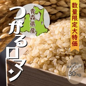 つがるロマン 一等米玄米 30kg 青森県産 令和元年産