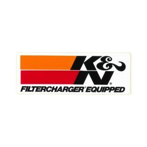 ステッカー、K&N、フィルターチャジャー、140 x 50mm|davidstore