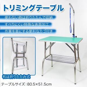 トリミングテーブル 折りたたみ カゴ アーム付き テーブル103-GZT ペットショップ トリマー サロン 犬 猫|daybyday