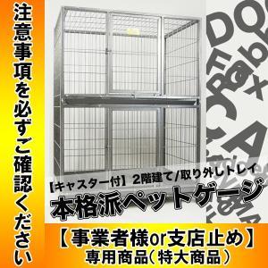 ペットゲージ 大型2段 犬小屋 ペットホテル ペットショップ クリニック ゲージ D192|daybyday