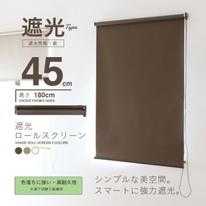 ロールスクリーン ロールカーテン ロールブラインド 幅45cm 遮光率99.99% スクリーンRK45の写真