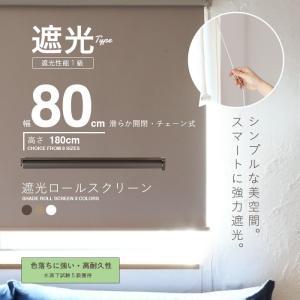 ロールスクリーン ロールカーテン ロールブラインド 幅80cm 遮光率99.99% スクリーンRK80|daybyday