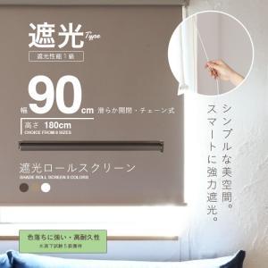 ロールスクリーン ロールカーテン ロールブラインド 幅90cm 遮光率99.99% スクリーンRK90|daybyday