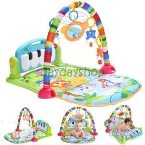 ベビー プレイマット おもちゃ 赤ちゃん ジム 音楽 ライトプレイマット ピアノ プレイ 感覚刺激 ...