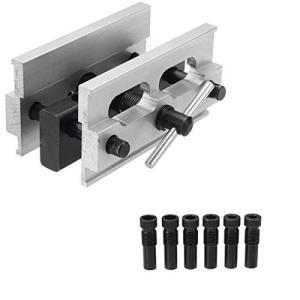 CarAngels ドリルガイド 冶具 木工 掘削 ドリルロケータ ダボガイドセット 調整可能 6/8/10/11/12mm 木工ツールセット|days-of-magic
