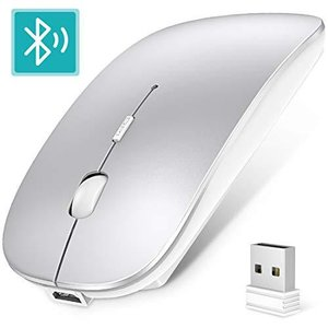 【2020最新版】ワイヤレスマウス Bluetooth 5.0 マウス 超薄型 静音 充電式 省エネルギー2.4GHz 3DPIモード高精度 持ち|days-of-magic
