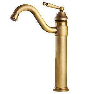HAMILO 混合栓 洗面 蛇口 シングルレバー ロング水栓 アンティーク レトロ 混合水栓|days-of-magic