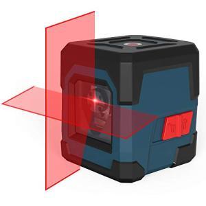 RockSeed クロスラインレーザー 2ライン 赤色 十字 レーザー墨出し器 自動水平調整機能 高精度 ライン 1/4