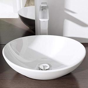 洗面ボウル 洗面ボール 手洗い鉢 洗面台 洗面器 手洗器 小型洗面所 浴室洗面台用 陶器製 楕円形(400*330*145mm)|days-of-magic