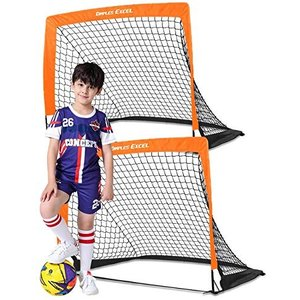 Dimples Excel サッカーゴール 折りたたみ 室内 室外 子供用 大人用 2個セット