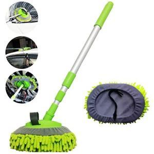 洗車ブラシ:マイクロファイバーのモップのため、車体を傷つけずに洗車することも可能。この洗車ブラシでい...