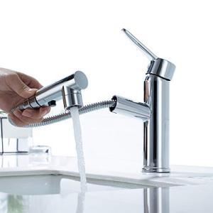 ONECE 洗面蛇口 シングルレバー混合水 一時停止ボタン付き 洗面台水栓 2種類の吐水式 浴室用 混合水栓|days-of-magic